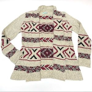 Maurices Aztec Print Knit Cardigan